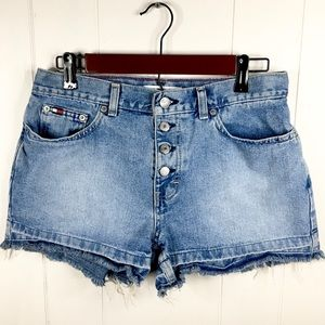 Vintage Tommy Hilfiger High Waisted Jean Shorts